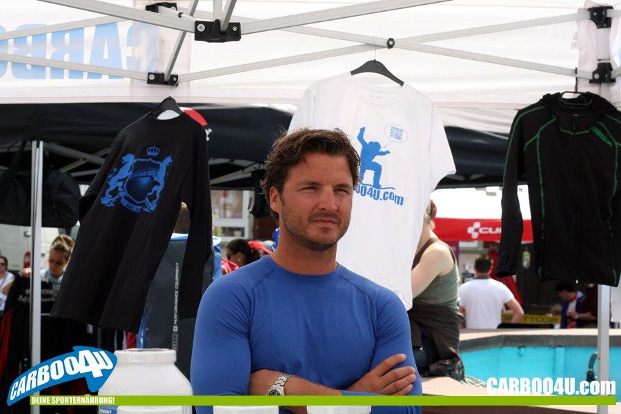 Foto: Thomas Zöller - Interessierter Sportsfreund Sascha Poth vor Ort