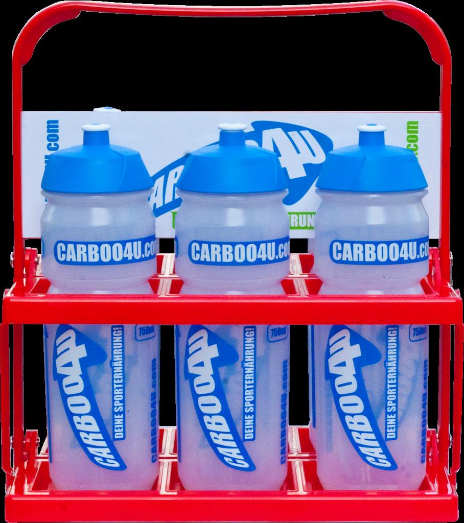 Carboo4U Flaschenträger - individuell rot und einklappbar!