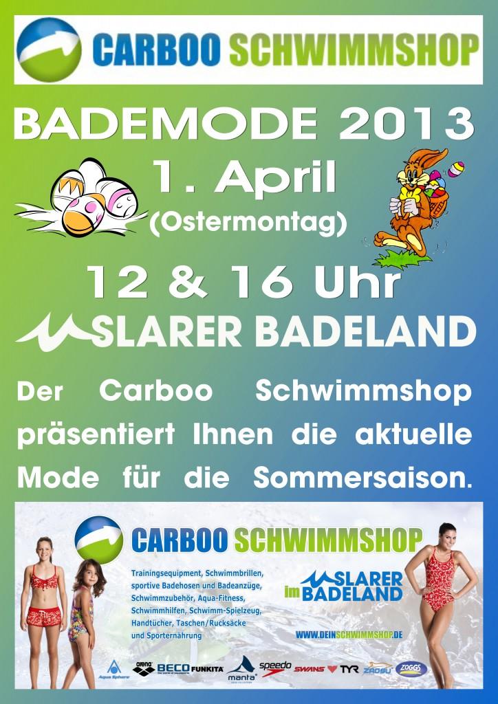 Carboo Schwimmshop - Bademodenschau - Uslarer Badeland 2013