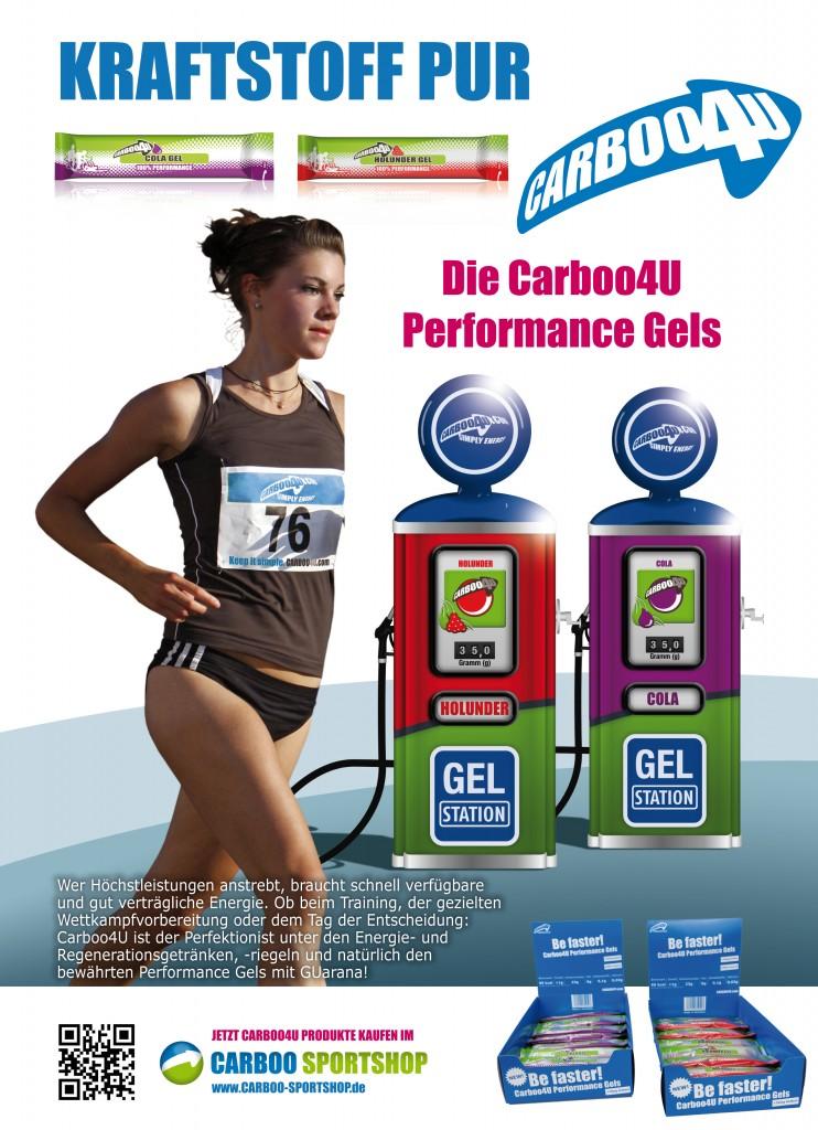 Carboo4U – Deine Sporternährung! Carboo4U Performance Gels  - Carboo4U – Deine Sporternährung! für den maximalen Leistungsschub in wenigen Minuten.