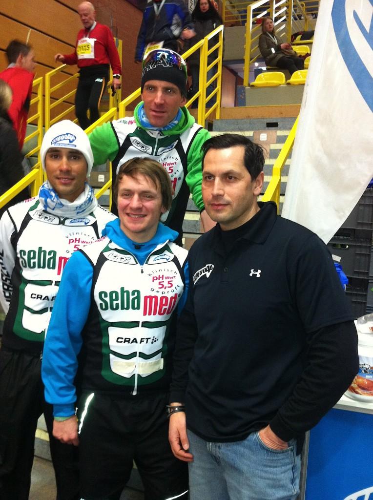 Carboo4U Speedskater wieder erfolgreich - Pascal Ramali (ganz links) siegt bei der DM Sakte Doppelmarathon vor Toni Deubner (Bild vorn)