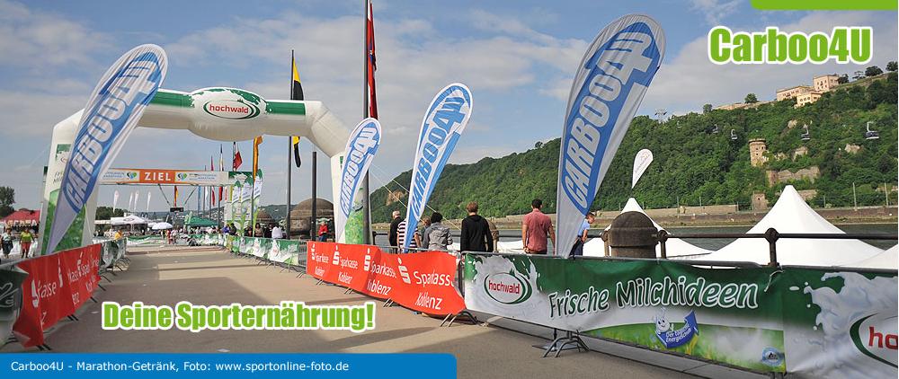 Carboo4U - Deine Sporternährung! offizieller Sporternährungspartner des Hochwald Mittelrhein Marathons
