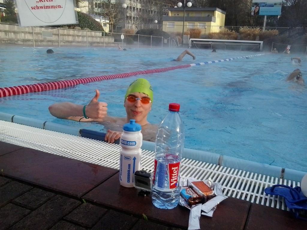 Carboo4U Swimming -  Zehn Kilometer Guerilla-Schwimmen in Bad Homburg